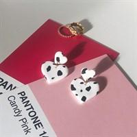 H A R L E Y heart dangle earrings