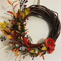 Half Autumn Wreath