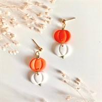 Halloween Double Pumpkin Earrings