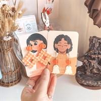 Halloween Ghost And Pumpkin Earrings on card