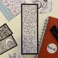 Hand Illustrated Cat Bookmark