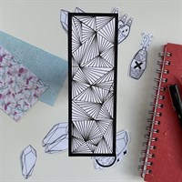 Hand Illustrated Geometric Bookmark