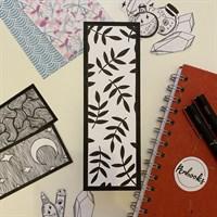 Hand Illustrated Leaves Bookmark