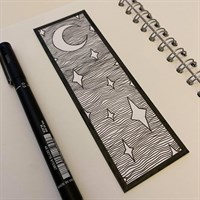 Night Sky Handmade Bookmark