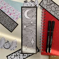 Hand Illustrated Night Sky Bookmark