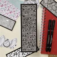 Hand Illustrated Peeping Eye Bookmark