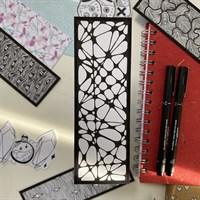 Hand Illustrated Web Line Bookmark