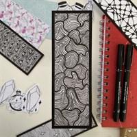 Hand Illustrated Swirls Bookmark