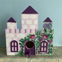 Hand Painted Bird Castle