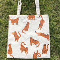 Hand Painted Tigers Tote Bag
