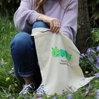 Hand painted tote bag- Caterpillar