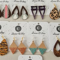 Hand Painted Wooden Earrings