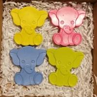 Hand Poured Elephant shaped wax crayons