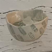 Handmade ceramic bowl side 1