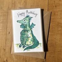 Handmade Dragon birthday card