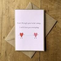 Handmade I miss you card
