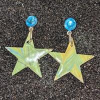 Handmade paper drop earrings gallery shot 6