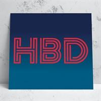 HBD Birthday Card