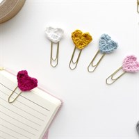 Heart Gold Paperclip Stationery Bookmark