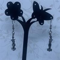 Hematite multi shape Dangle Earrings gallery shot 2