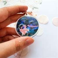 Holographic Space Bear Key Charm gallery shot 4