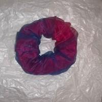 Hot Pink Satin & Tulle Scrunchie