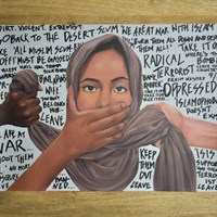 Islamophobia political art piece