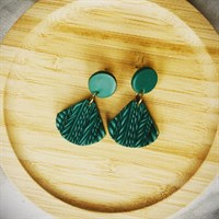 Knitted Clay Earring