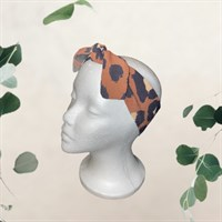 Leopard Print Pin Up Style Hair Tie