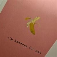 Light Pink I'm Bananas For you Card