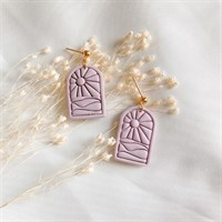 Lilac sun imprinted pastel earrings