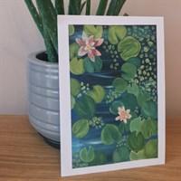 Lily Pond Print   English Garden