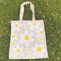 Little Daisies Hand Painted Tote Bag