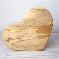 Love Heart Board Beech Wood - Large