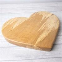 Beech Wood heart board left side