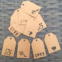 Love Themed Mini Gift Tags (12 Tag Set)