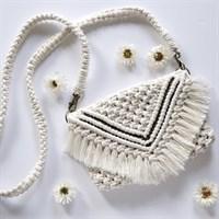Macrame Boho Fringe Clutch Bag