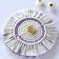 Macrame Coasters- Hint Of Purple