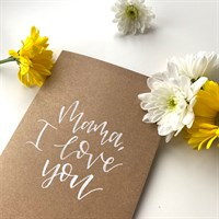 Mama I love you – Brown Recycled
