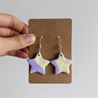 Marble Star Polymer Clay Earrings