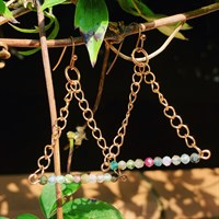 Microfaceted Tourmaline Trapeze Earrings