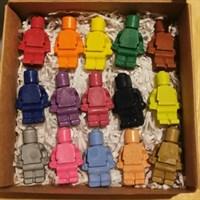 Minifigure Shaped Crayons