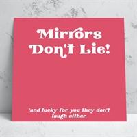 Mirrors Greeting Card