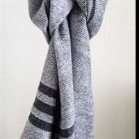 Misty Morning Shawl grey wool