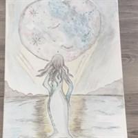 Moon goddess canvas