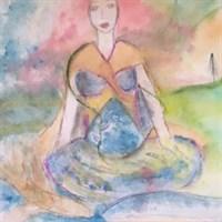 Mother Gaia watercolour