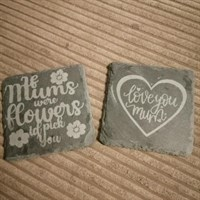 Mother's Day Slate coasters