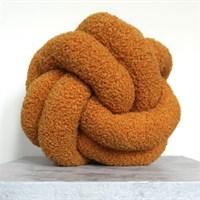 Mustard Boucle Knot Cushion | Pillow