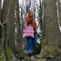 Natural Bundle Dyed Tote Bag in use gallery shot 5