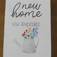 New Home Watering Can Card